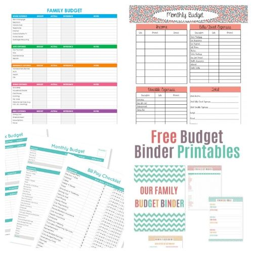 20 Budget Binder Free Printables- If you want to get your finances organized and start working toward financial freedom, then you need to check out these free printable budget templates! | budgeting printables, budget binder printable, family finance planner printable, #freePrintables #freePrintable #budgeting #budget #ACultivatedNest