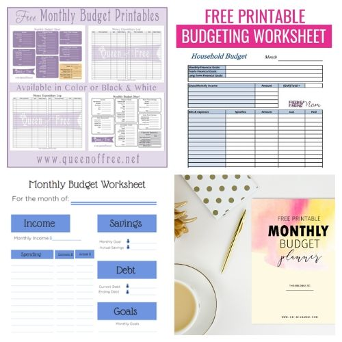 20 Budget Worksheet Free Printables- If you want to get your finances organized and start working toward financial freedom, then you need to check out these free printable budget templates! | budgeting printables, budget binder printable, family finance planner printable, #freePrintables #freePrintable #budgeting #budget #ACultivatedNest