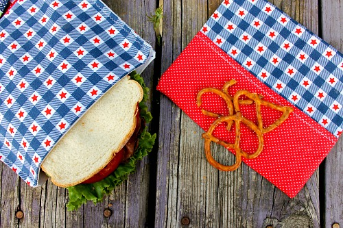 Eco-Friendly Reusable Sandwich Bags- These DIY reusable sandwich bags are a super simple way to stop using plastic bags for your child's lunch. They're easy to make and very easy to clean! | #DIY #sewing #reusable #eco-friendly #ACultivatedNest