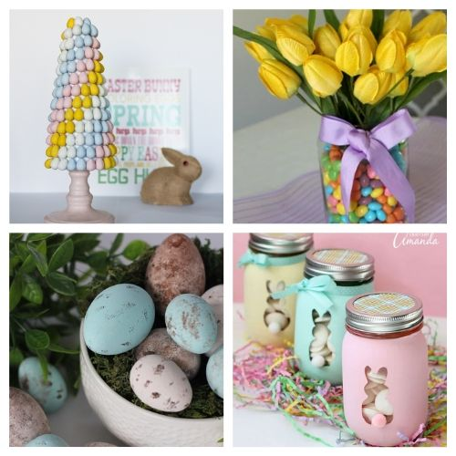 20 Dollar Store DIY Easter Decorations- All of these adorable dollar store Easter DIY decor ideas are great for getting your home ready for spring! They're easy, plus budget-friendly! | #Easter #DIY #dollarStoreCraft #EasterDecor #ACultivatedNest