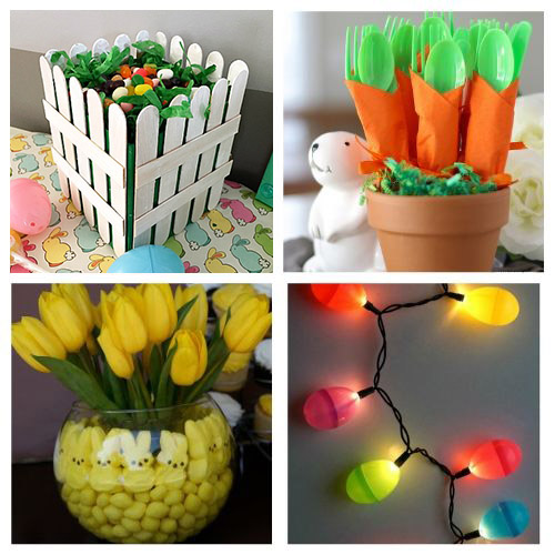 20 Easter Dollar Store Decor Ideas- All of these adorable dollar store Easter DIY decor ideas are great for getting your home ready for spring! They're easy, plus budget-friendly! | #Easter #DIY #dollarStoreCraft #EasterDecor #ACultivatedNest