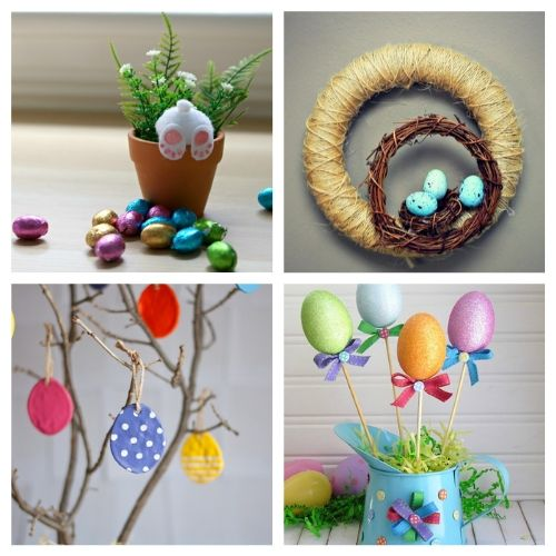 20 Dollar Store Easter Craft Ideas- All of these adorable dollar store Easter DIY decor ideas are great for getting your home ready for spring! They're easy, plus budget-friendly! | #Easter #DIY #dollarStoreCraft #EasterDecor #ACultivatedNest