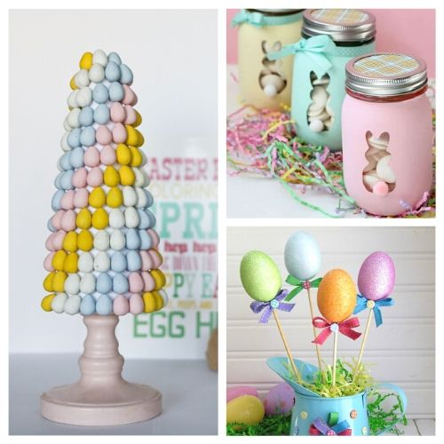 20 Dollar Store Easter DIY Decor Ideas- All of these adorable dollar store Easter DIY decor ideas are great for getting your home ready for spring! They're easy, plus budget-friendly! | #Easter #DIY #dollarStoreCraft #EasterDecor #ACultivatedNest
