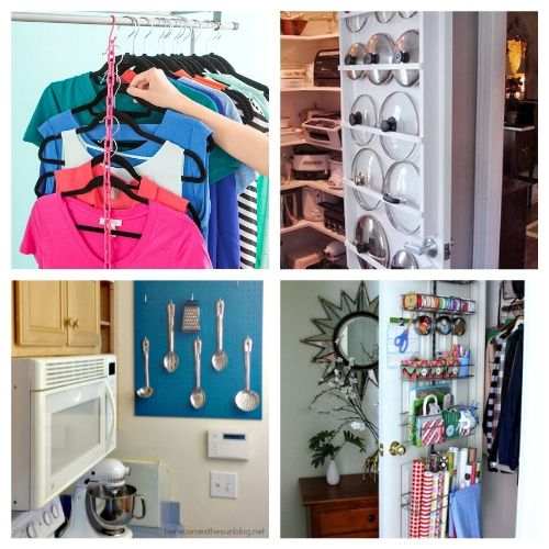 20 Clever Vertical Organization DIYs- If you live in a small space you need these DIY vertical storage solutions in your life! They're easy to set up and a great way to enhance your space! | #organizingTips #storageSolutions #homeOrganization #organizing #ACultivatedNest