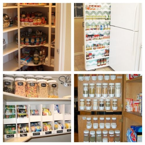 20 Creative Canned Food Organizing Ideas- Try out these creative canned food organization ideas and you will be able to store more food! Plus, you'll be able to find what you have easier! | how to organize your pantry, organize your food stockpile, #organizingTips #foodStorage #organization #pantryOrganization #ACultivatedNest