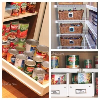Creative Canned Food Organization Ideas - Try out these Creative Canned Food Organization Ideas and you will be able to store more food! Keep all the staples on hand for emergencies. | #ACultivatedNest