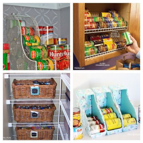 20 Creative Canned Food Storage Solutions- Try out these creative canned food organization ideas and you will be able to store more food! Plus, you'll be able to find what you have easier! | how to organize your pantry, organize your food stockpile, #organizingTips #foodStorage #organization #pantryOrganization #ACultivatedNest