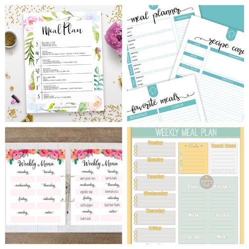 20 Free Meal Planner Printables- These free printable meal planners will save you time, energy, and money! Once you get used to meal planning you will never go back! | recipe binder templates, kitchen printables, meal prep, food prep, #mealPlanner #mealPlanning #freePrintables #menuPlanner #ACultivatedNest