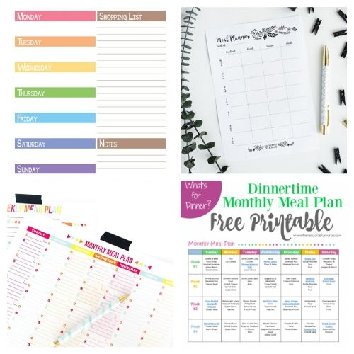 20 Free Printable Menu Planners- These free printable meal planners will save you time, energy, and money! Once you get used to meal planning you will never go back!   recipe binder templates, kitchen printables, meal prep, food prep, #mealPlanner #mealPlanning #freePrintables #menuPlanner #ACultivatedNest