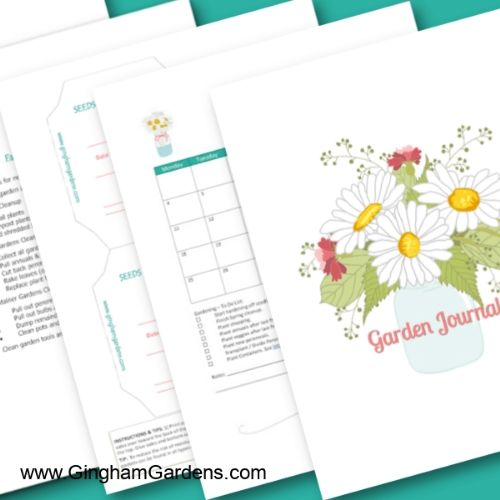10 Garden Planner Free Printables- These free printable garden planners will help you plan your best garden ever! Whether you're growing vegetables or flowers, they're sure to help! | #gardening #gardenPlanner #gardeningTips #vegetableGarden #ACultivatedNest