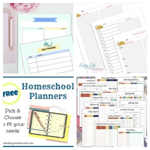 20 Homeschool Planner Free Printables- These free printable homeschool planners are a wonderful way to get organized and prepared. They're perfect for homeschooling on a budget! | #freePrintable #freePrintable #homeschooling #homeschoolPlanner #ACultivatedNest