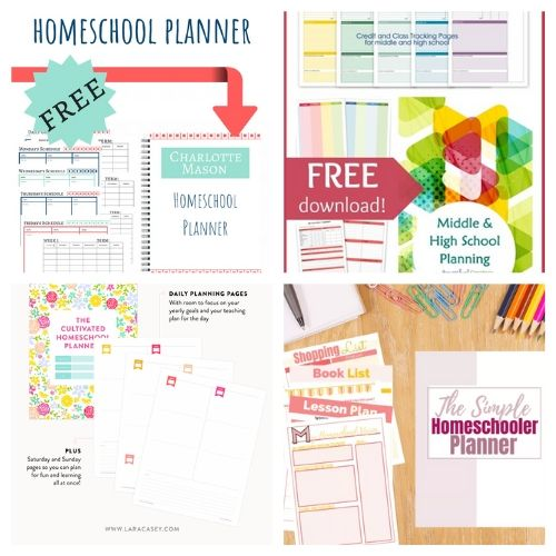 20 Free Printable Planners for Your Homeschool- These free printable homeschool planners are a wonderful way to get organized and prepared. They're perfect for homeschooling on a budget! | #freePrintable #freePrintable #homeschooling #homeschoolPlanner #ACultivatedNest