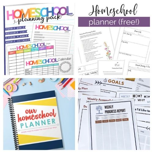 20 Free Homeschool Planning Printables- These free printable homeschool planners are a wonderful way to get organized and prepared. They're perfect for homeschooling on a budget! | #freePrintable #freePrintable #homeschooling #homeschoolPlanner #ACultivatedNest
