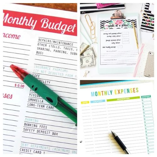 20 Free Printable Budget Templates- If you want to get your finances organized and start working toward financial freedom, then you need to check out these free printable budget templates! | budgeting printables, budget binder printable, family finance planner printable, #freePrintables #freePrintable #budgeting #budget #ACultivatedNest
