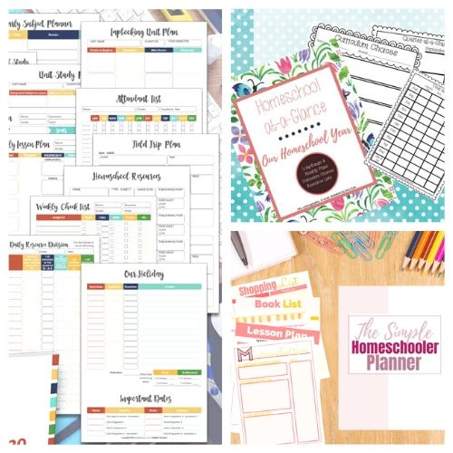 20 Free Printable Homeschool Planners- These free printable homeschool planners are a wonderful way to get organized and prepared. They're perfect for homeschooling on a budget! | #freePrintable #freePrintable #homeschooling #homeschoolPlanner #ACultivatedNest