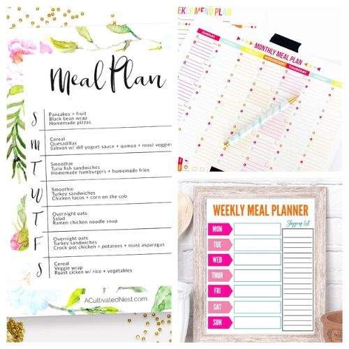 20 Free Printable Meal Planners