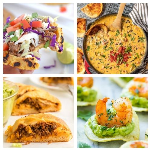 20 Mexcian Food Party Appetizers- If you're hosting a Cinco de Mayo party, you have to check out these 20 delicious Cinco de Mayo appetizer recipes! They're so easy to make! | #cincoDeMayo #appetizer #recipe #appertizerRecipes #ACultivatedNest