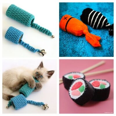 20 DIY Cat Toys They Will Love - Take a look at these amazing DIY Cat Toys that are sure to please your cats! They will keep your kitty entertained and are super easy to make too. #ACultivatedNest