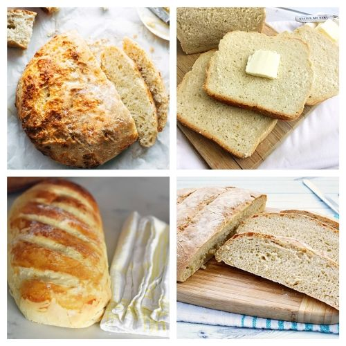 20 Delicious Recipes for Homemade Bread from Scratch- These delicious homemade bread recipes are so easy to make and will win over a crowd in minutes. Bake them for any occasion and enjoy with a smile! | baked goods, baking recipes, homemade sandwich bread, homemade dessert bread, #homemade #bread #baking #recipe #ACultivatedNest