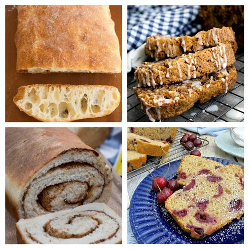 20 Easy Homemade Breads: Sandwich Breads + Dessert Breads- These delicious homemade bread recipes are so easy to make and will win over a crowd in minutes. Bake them for any occasion and enjoy with a smile! | baked goods, baking recipes, homemade sandwich bread, homemade dessert bread, #homemade #bread #baking #recipe #ACultivatedNest