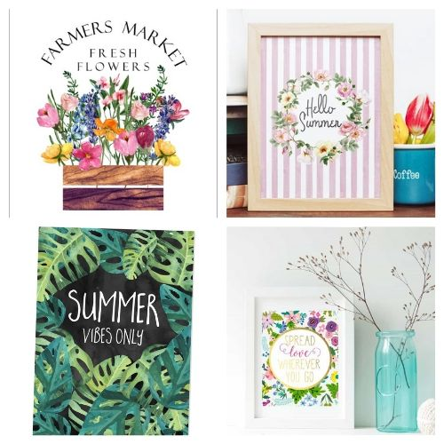 20 Summer Wall Art Free Printables- Use these free summer wall art printables to add some summer style to your home's decor on a budget! These adorable free printables are just what you need! | #freePrintables #printables #summer #wallArt #ACultivatedNest