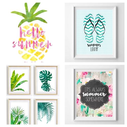20 Free Wall Art Prints for Summer- Use these free summer wall art printables to add some summer style to your home's decor on a budget! These adorable free printables are just what you need! | #freePrintables #printables #summer #wallArt #ACultivatedNest