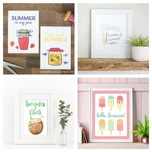 20 Free Wall Art Printables for Summer- Use these free summer wall art printables to add some summer style to your home's decor on a budget! These adorable free printables are just what you need! | #freePrintables #printables #summer #wallArt #ACultivatedNest