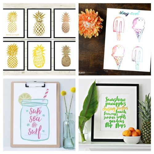 20 Free Summer Wall Artwork Printables- Use these free summer wall art printables to add some summer style to your home's decor on a budget! These adorable free printables are just what you need! | #freePrintables #printables #summer #wallArt #ACultivatedNest