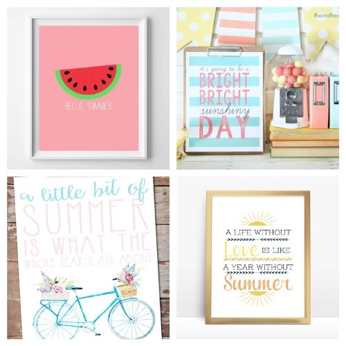 20 Free Summer Wall Art Prints- Use these free summer wall art printables to add some summer style to your home's decor on a budget! These adorable free printables are just what you need! | #freePrintables #printables #summer #wallArt #ACultivatedNest