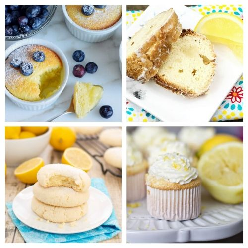 20 Incredible Lemon Desserts- When you sink your teeth into these incredible lemon dessert recipes you will be amazed! The flavors are so deliciously bright and refreshing! | summer lemon recipes, citrus recipes, citrus desserts, #lemon #recipe #dessert #dessertRecipe #ACultivatedNest
