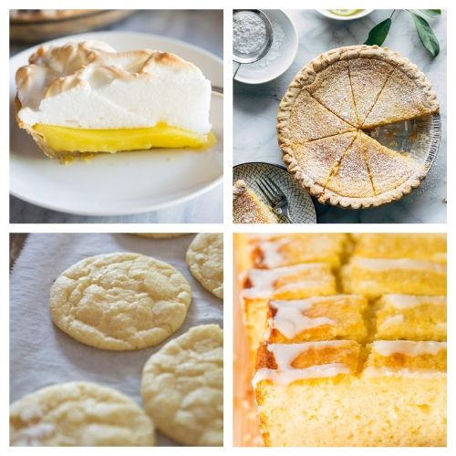 20 Incredible Baked Desserts with Lemon- When you sink your teeth into these incredible lemon dessert recipes you will be amazed! The flavors are so deliciously bright and refreshing! | summer lemon recipes, citrus recipes, citrus desserts, #lemon #recipe #dessert #dessertRecipe #ACultivatedNest