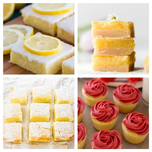20 Incredible Lemon Treat Recipes- When you sink your teeth into these incredible lemon dessert recipes you will be amazed! The flavors are so deliciously bright and refreshing! | summer lemon recipes, citrus recipes, citrus desserts, #lemon #recipe #dessert #dessertRecipe #ACultivatedNest