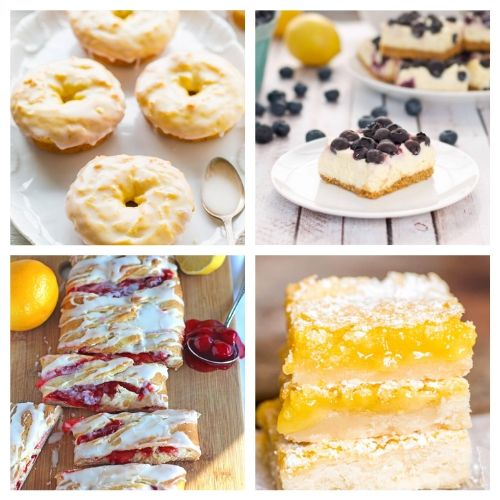 20 Incredible Lemon Baked Goods- When you sink your teeth into these incredible lemon dessert recipes you will be amazed! The flavors are so deliciously bright and refreshing! | summer lemon recipes, citrus recipes, citrus desserts, #lemon #recipe #dessert #dessertRecipe #ACultivatedNest
