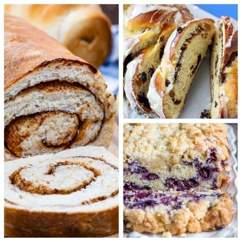 20 Delicious Homemade Bread Recipes- These delicious homemade bread recipes are so easy to make and will win over a crowd in minutes. Bake them for any occasion and enjoy with a smile! | baked goods, baking recipes, homemade sandwich bread, homemade dessert bread, #homemade #bread #baking #recipe #ACultivatedNest