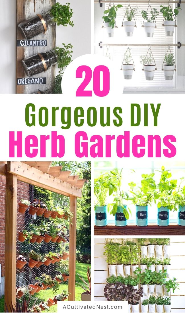 20 Easy DIY Herb Garden Ideas