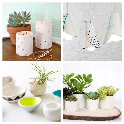 20 Gorgeous Air Dry Clay DIYs- You are sure to love these 20 gorgeous air dry clay crafts! They will keep you busy and creating all sorts of fun stuff for your space!   decor to make with air dry clay, what to make with air dry clay, #crafts #DIY #airDryClay #diyDecor #ACultivatedNest