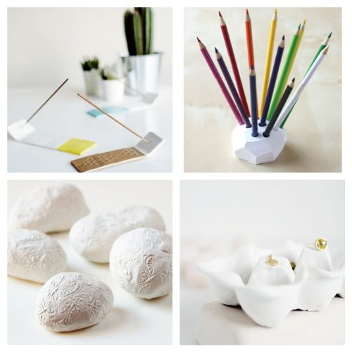 20 Decor Pieces to Make with Air Dry Clay- You are sure to love these 20 gorgeous air dry clay crafts! They will keep you busy and creating all sorts of fun stuff for your space!   decor to make with air dry clay, what to make with air dry clay, #crafts #DIY #airDryClay #diyDecor #ACultivatedNest