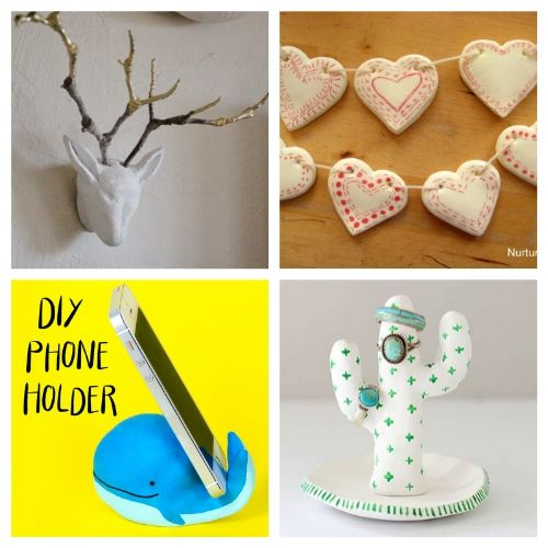 20 Easy Air Dry Clay Crafts- You are sure to love these 20 gorgeous air dry clay crafts! They will keep you busy and creating all sorts of fun stuff for your space!   decor to make with air dry clay, what to make with air dry clay, #crafts #DIY #airDryClay #diyDecor #ACultivatedNest