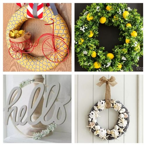 20 Beautiful Summer DIY Wreaths- Learn how to make these beautiful DIY summer wreaths! They are all gorgeous and a great way to add some summery style to your space! | #diyWreaths #wreaths #DIY #summerDecor #ACultivatedNest