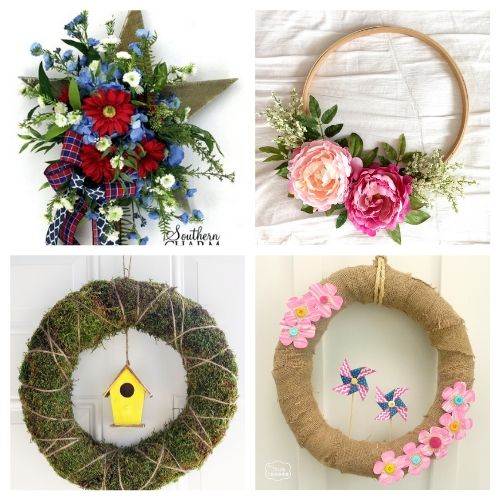 20 Beautiful Summer Wreath Decor Projects- Learn how to make these beautiful DIY summer wreaths! They are all gorgeous and a great way to add some summery style to your space! | #diyWreaths #wreaths #DIY #summerDecor #ACultivatedNest