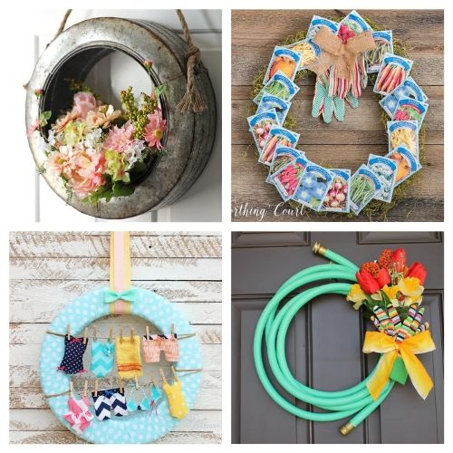 20 Beautiful Summer Wreath Crafts- Learn how to make these beautiful DIY summer wreaths! They are all gorgeous and a great way to add some summery style to your space! | #diyWreaths #wreaths #DIY #summerDecor #ACultivatedNest