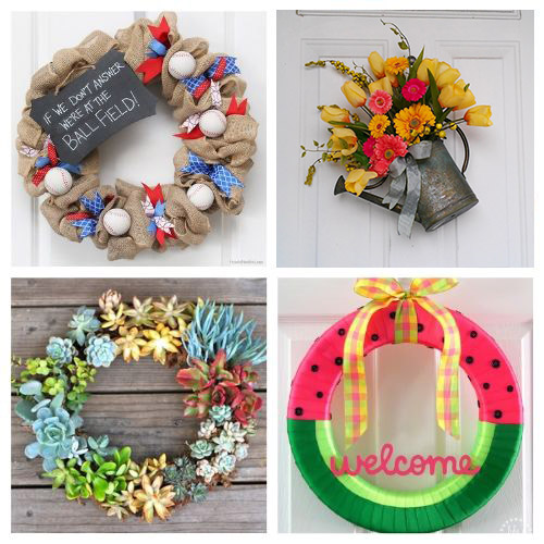 20 Beautiful Wreath Summer Decor DIYs- Learn how to make these beautiful DIY summer wreaths! They are all gorgeous and a great way to add some summery style to your space! | #diyWreaths #wreaths #DIY #summerDecor #ACultivatedNest