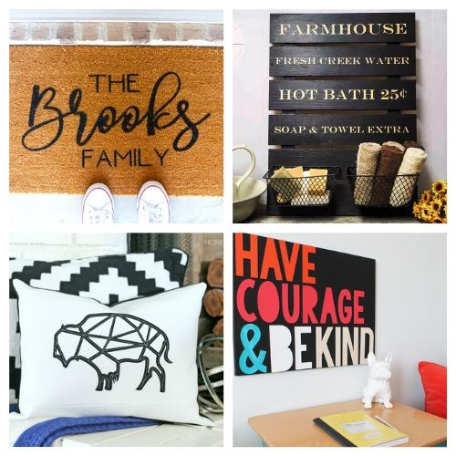 The 20 Best DIY Cricut Decor Projects- We have the ultimate list of the best Cricut DIY decor projects for you! They are a blast to work on and will add charm to your home!   Cricut Projects for your home, home decor DIYs, #cricut #cricutDIY #diyProjects #cricutProjects #ACultivatedNest