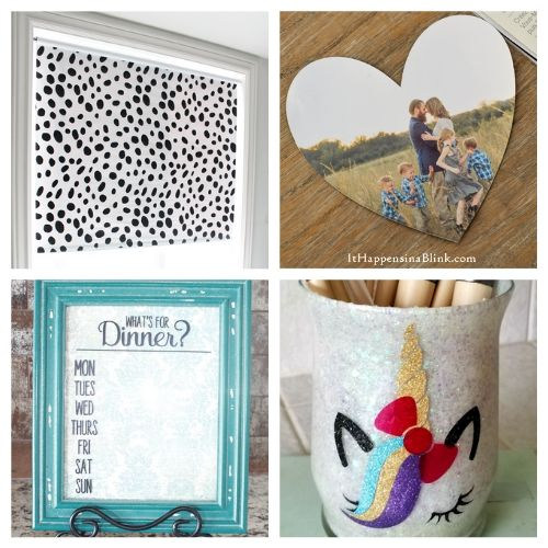 The 20 Best Home Decor Cricut DIYs- We have the ultimate list of the best Cricut DIY decor projects for you! They are a blast to work on and will add charm to your home!   Cricut Projects for your home, home decor DIYs, #cricut #cricutDIY #diyProjects #cricutProjects #ACultivatedNest