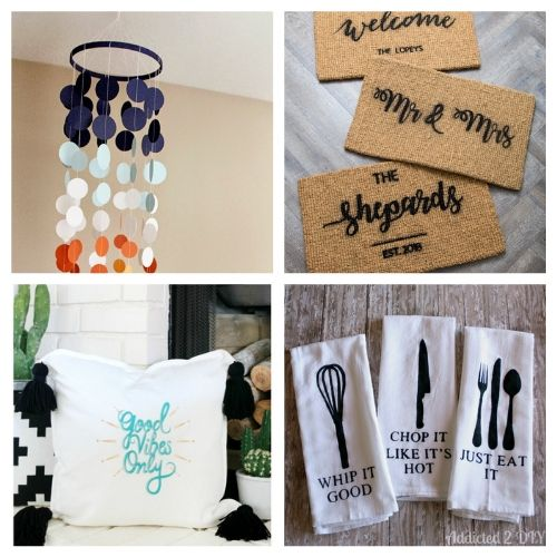 The 20 Best DIY Cricut Projects- We have the ultimate list of the best Cricut DIY decor projects for you! They are a blast to work on and will add charm to your home!   Cricut Projects for your home, home decor DIYs, #cricut #cricutDIY #diyProjects #cricutProjects #ACultivatedNest