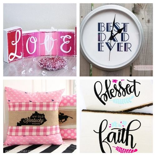 The 20 Best DIY Cricut Crafts- We have the ultimate list of the best Cricut DIY decor projects for you! They are a blast to work on and will add charm to your home!   Cricut Projects for your home, home decor DIYs, #cricut #cricutDIY #diyProjects #cricutProjects #ACultivatedNest