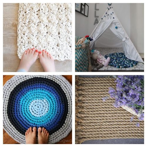 20 Charming Rug DIYs- When you see this collection of charming DIY rugs, you are sure to fall in love. They are all beautiful, and so easy to make! | homemade rugs, how to make a rug, #diy #diyProject #rugs #decor #ACultivatedNest