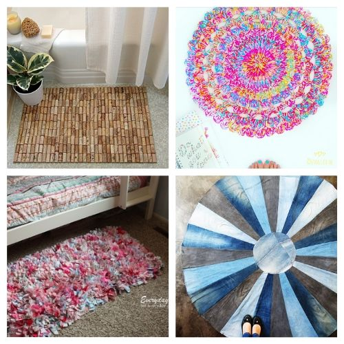 20 Charming DIY Rug Projects- When you see this collection of charming DIY rugs, you are sure to fall in love. They are all beautiful, and so easy to make! | homemade rugs, how to make a rug, #diy #diyProject #rugs #decor #ACultivatedNest