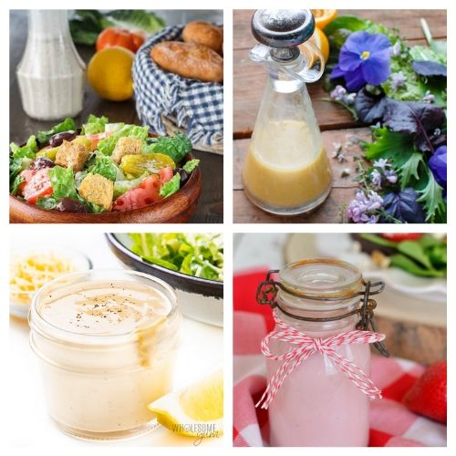 20 Drool-Worthy DIY Salad Dressings- Making your own salad dressing is an easy way to add healthy flavor to your favorite salads! For inspiration, check out these drool-worthy homemade salad dressings! | DIY salad dressing, #homemadeSaladDressing #diySaladDressing #recipe #homemade #ACultivatedNest