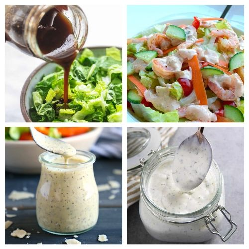 How to Make Your Own Salad Dressings- Making your own salad dressing is an easy way to add healthy flavor to your favorite salads! For inspiration, check out these drool-worthy homemade salad dressings! | DIY salad dressing, #homemadeSaladDressing #diySaladDressing #recipe #homemade #ACultivatedNest